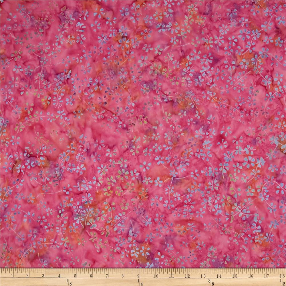 Timeless Treasures Tonga Batik Pashmina Calico Pink