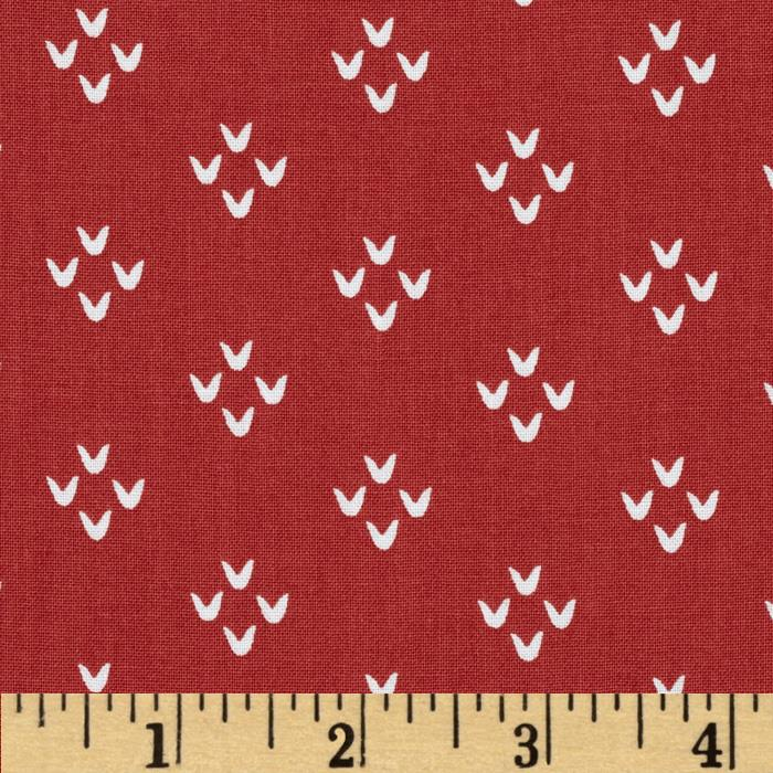 Moda Into the Woods Cozy Stitches Cranberry