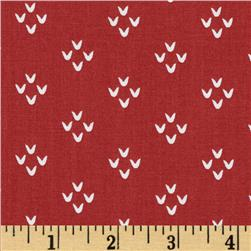 Moda Into the Woods Cozy Stitches Cranberry Fabric