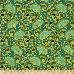 Amy Butler Bright Heart Feather Fans Teal