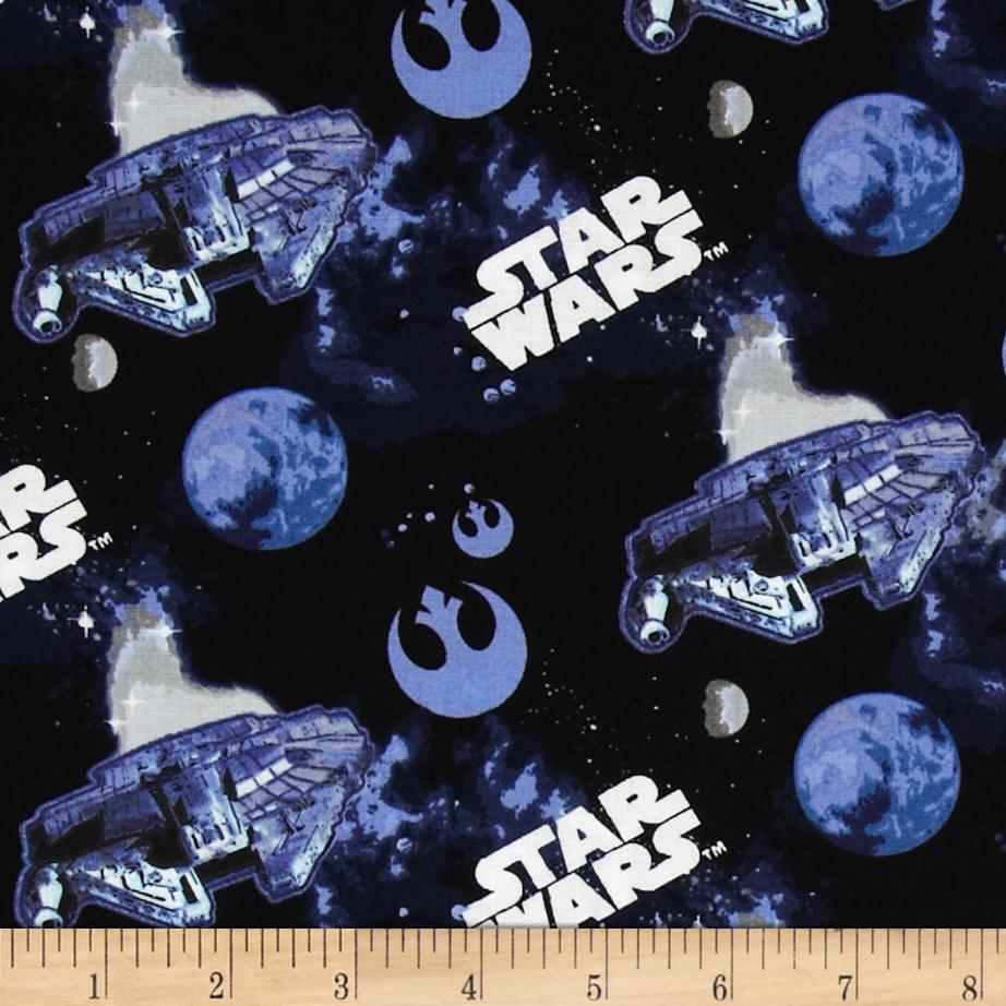 Star wars the millenium falcon discount designer fabric for Star design fabric
