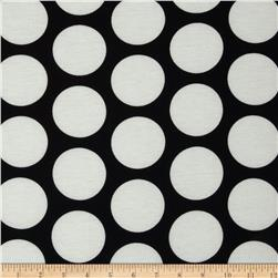 Soft Jersey Knit Polka Dot Off White/Black Fabric