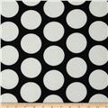 Soft Jersey Knit Polka Dot Off White/Black