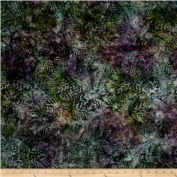 Wilmington Batiks Long Leaves Green/Purple
