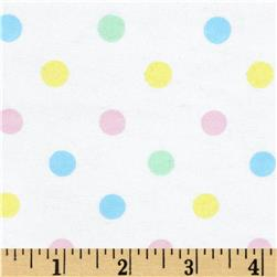 Aunt Polly's Flannel Medium Polka Dots Pastel/Multi
