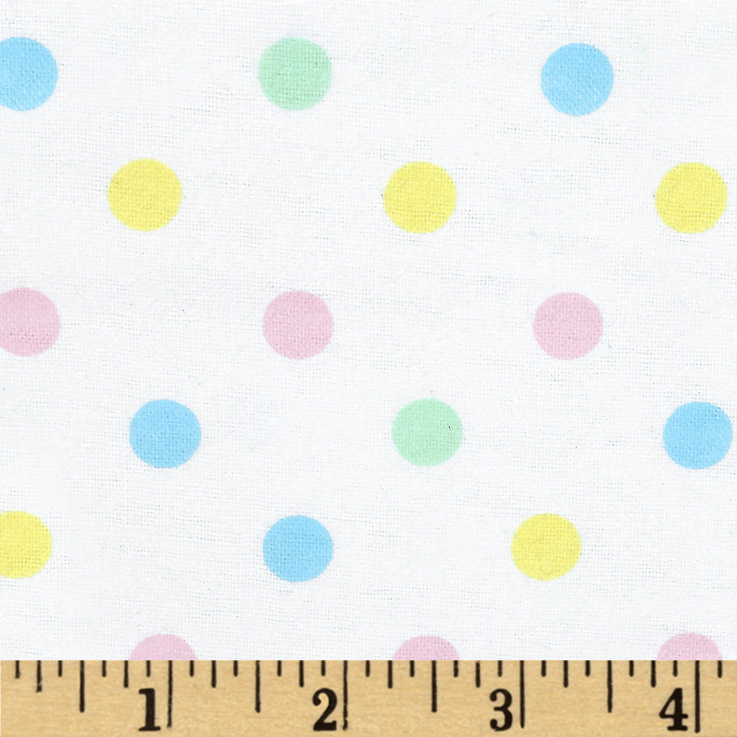 Aunt Polly's Flannel Medium Polka Dots Pastel/Multi Fabric