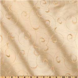 "118"" Wide Elite Embroidered Taffeta Savannah Vine Cream"