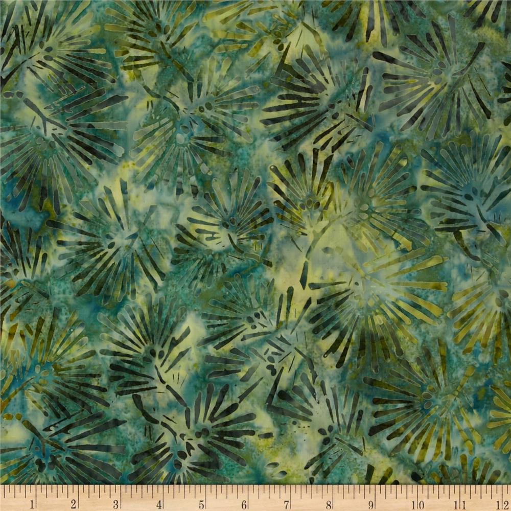 Kaufman Northwood Batiks Large Leaves Pine