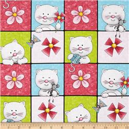 Miss Kitty's Colors Cats in Squares Multi
