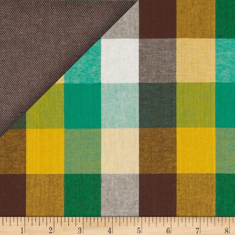 Kaufman Double Cloth Cotton Plaid Brown