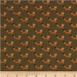Seven Islands Double Gauze Foxes Green