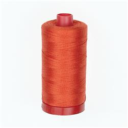 Aurifil 12wt Embellishment and Sashiko Thread Red Orange