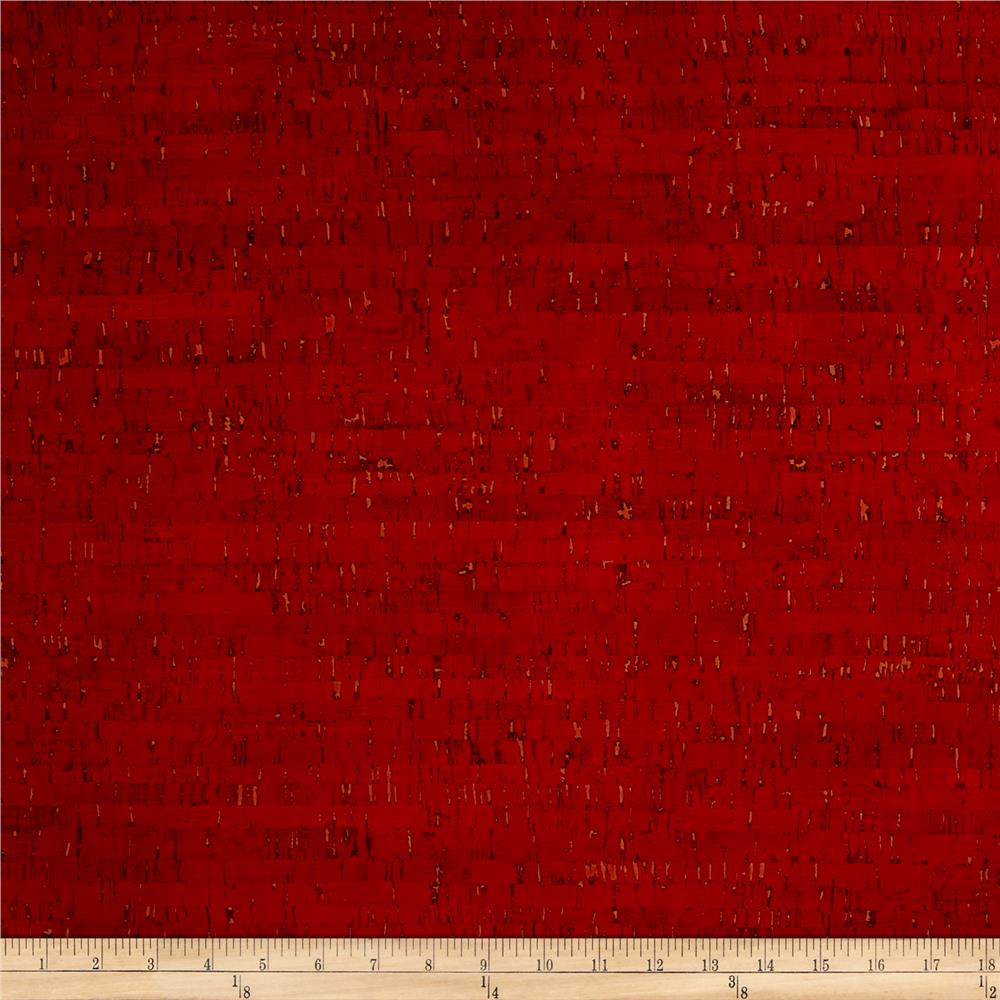 Eversewn cork fabric 1 yard red discount designer fabric for Purchase fabric by the yard