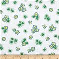 Paradise Tossed Flower White/Green
