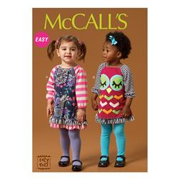 McCall's Infants' Dresses Pattern M7007 Size YA5