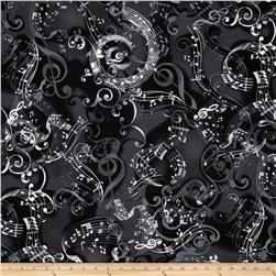 Kanvas Concerto Mozarts Mind Black Fabric