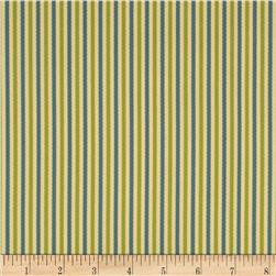 Bella Dura Eco-Friendly Indoor/Outdoor Asbury Stripe Off White/Light Green
