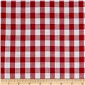 Lawn Gingham Check Red/White