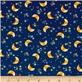 Space Adventure Moon & Stars Navy