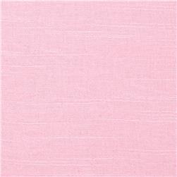 Poly Rayon Linen Look Shirting Ballet Pink