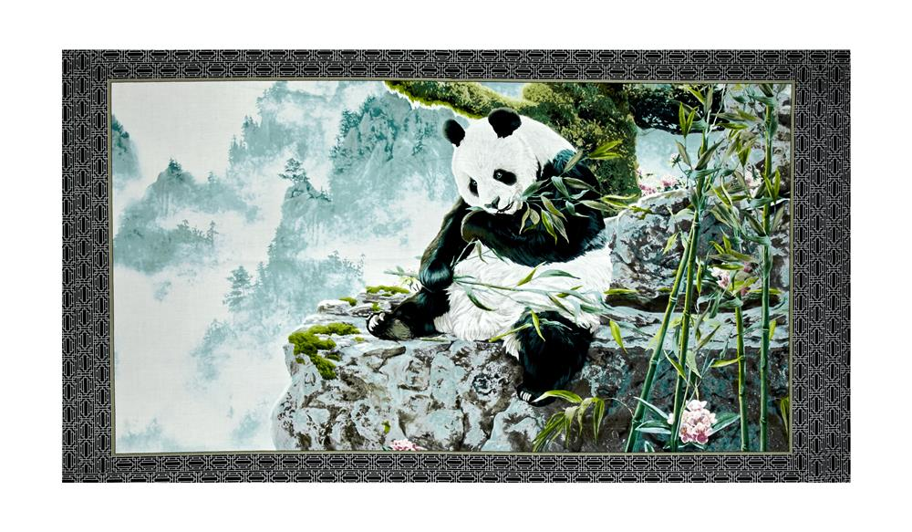 Quilting Treasures Imperial Panda 23.5'' Panel Multi Fabric