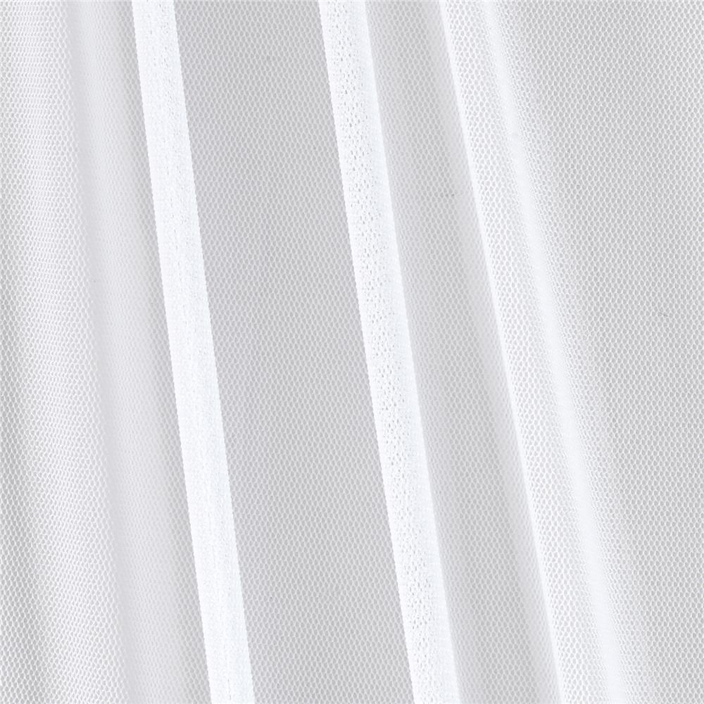 Illusion Power Mesh White Fabric