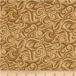 Moda Sew American! Striped Waves Tan