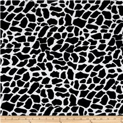 Cotton Lycra Spandex Jersey Knit Cow Print Black/White