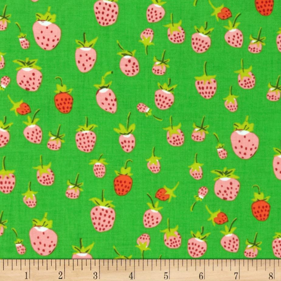 Heather Ross Briar Rose Strawberry Pink/Green