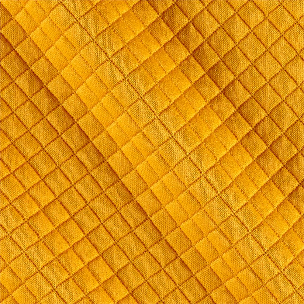 Telio Mini Quilted Knit Diamond Yellow