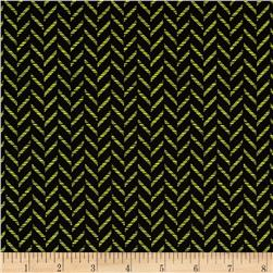 Kanvas Tempo Zig Zag Black/Lime Fabric