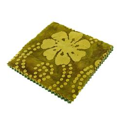 Indian Batiks Assorted 5'' Charm Pack Lime/Olive/Green