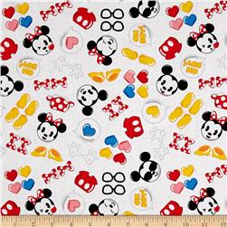 Disney Emojiland Mickey and Minnie With Icons white