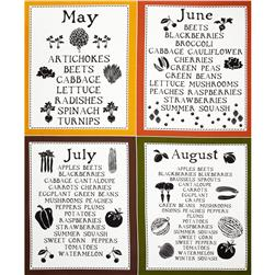 Lush Harvest May - August Calendar 24'' Panel Orange