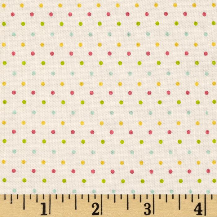 Riley Blake Swiss Dot Cream/Multi