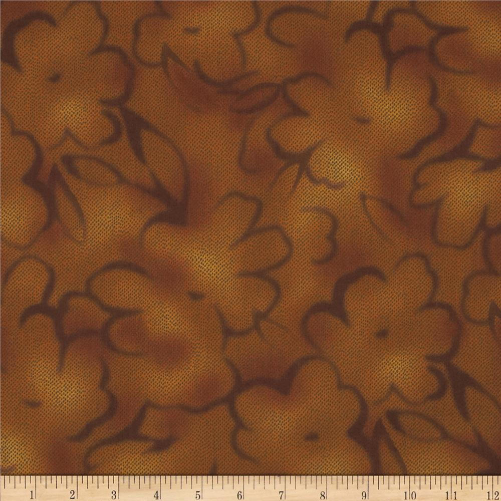Jinny Beyer Chelsea Abstract Floral Gold