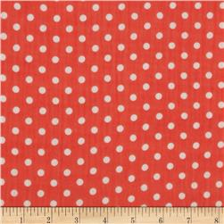 Yoryu Chiffon Dots White/Red