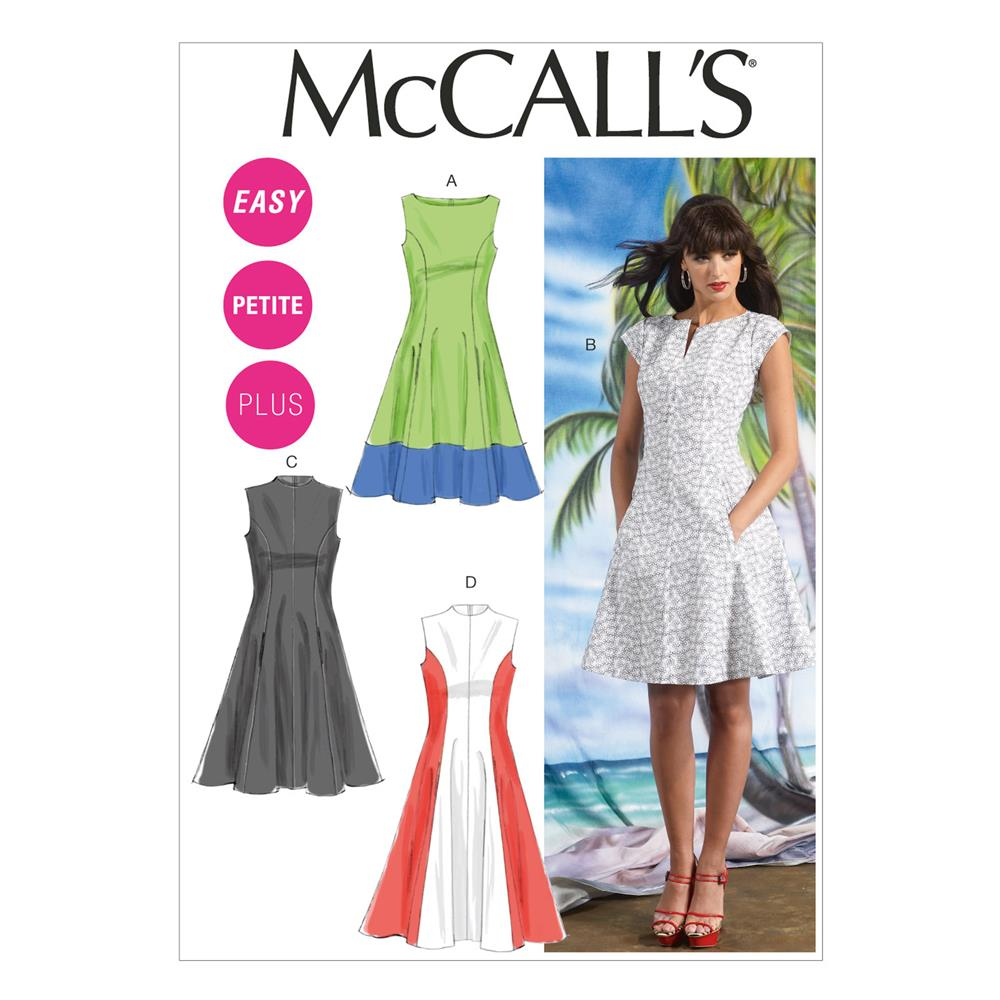 McCall's Misses'/Women's Petite Lined Dresses Pattern M6741 Size