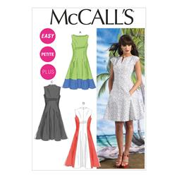 McCall's Misses'/Women's Petite Lined Dresses Pattern M6741 Size B50