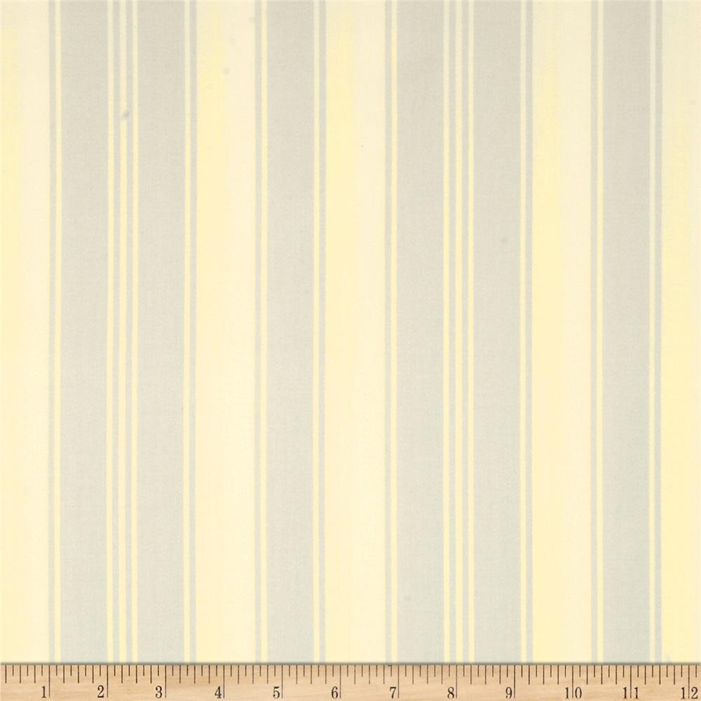 Tanya Whelan Petal Home Decor Sateen French Stripe Fog