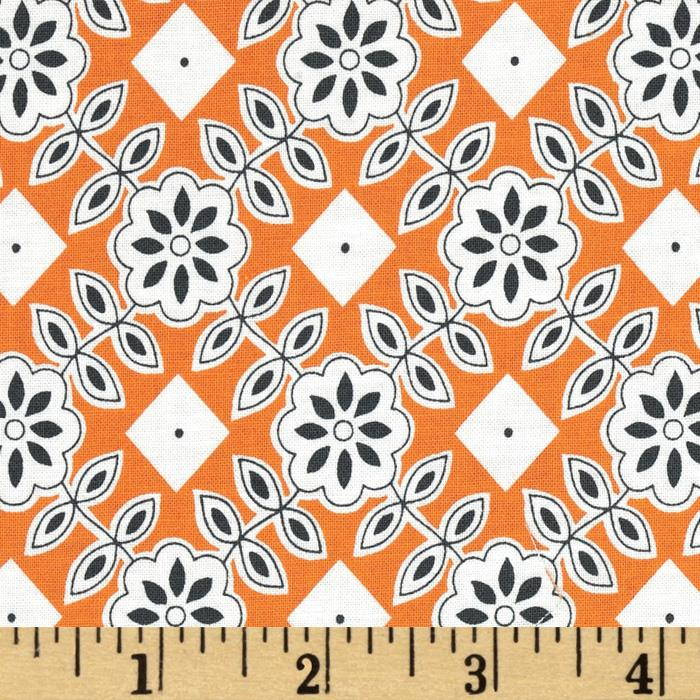 Downtown Floral Diamond Orange