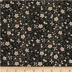 Boutique Peachskin Floral Black/Creme