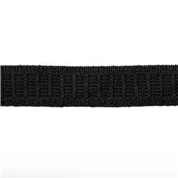 3/4'' No Roll Elastic BY THE YARD Black