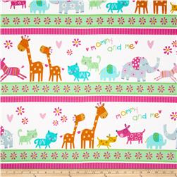 Mommy and Me Flannel Jungle Animal Stripe Multi