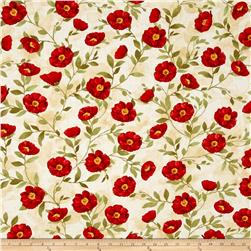 Poppy Celebration Poppies All Over Red/Cream