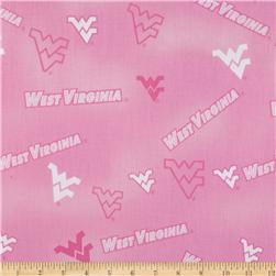Collegiate Cotton Broadcloth West Virginia Pink