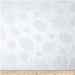 72'' Alpine Shell Tablecloth Natural/White