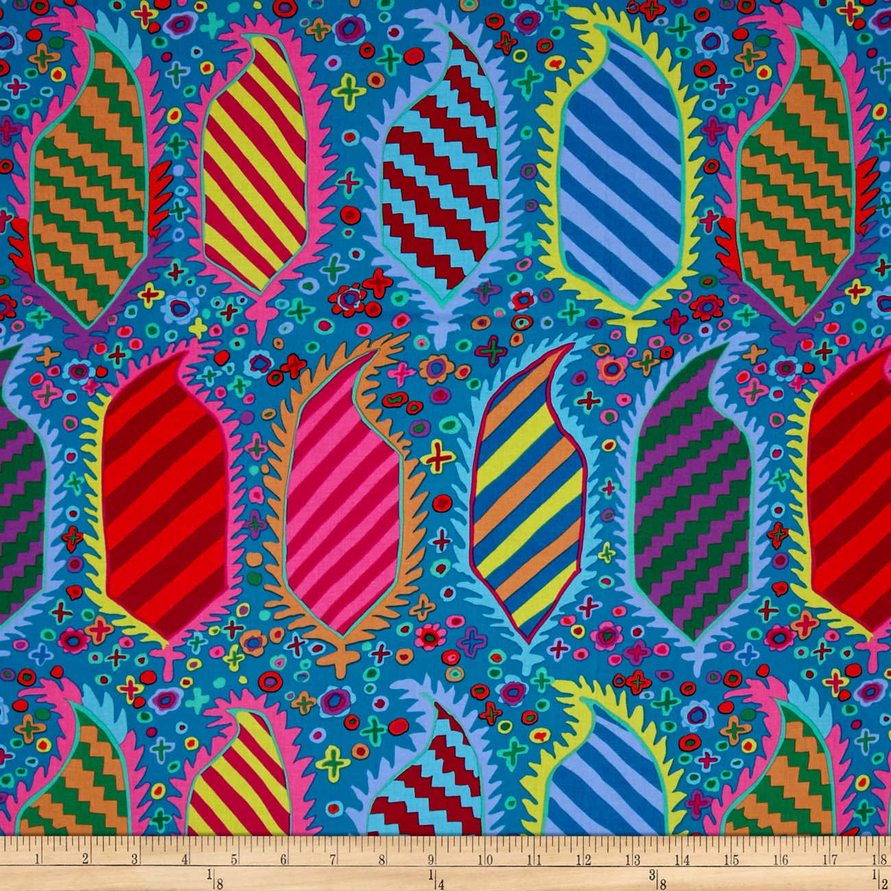 Kaffe Fassett Collective Striped Herald Turquoise Fabric