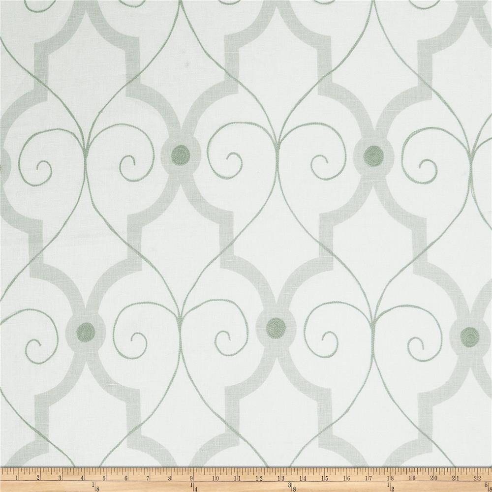 Fabricut Galium Lattice Aqua
