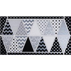 Riley Blake Hollywood Sparkle Banner Panel Shimmer Black